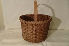 "#136 Antique Handmade Basket - 13"" x 8 1/4"" h, plus 7 1/4"" handle - $40"