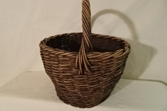 "#134 Antique Handmade Basket - 11"" w x 7"" h plus 5"" handle - $ ? (KTTH)"
