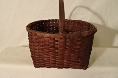 "#137 Antique Handmade Tiny Web Basket - 10 3/4"" w x 6"" h, plus 3 3/4"" handle - $ ? ()"