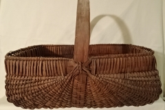 "#141 Antique Handmade Harvest Basket - 18 1/2"" x 13"" w x 7 1/2"" h, plus 7"" handle  - $60 ()"