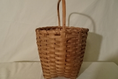 "#142 Antique Handmade Basket - 8"" round x 7 1/4"" h, plus 4 1/2"" handle  - $67.50 (EKA)"