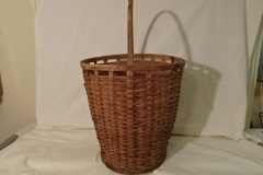 "#143 Antique Handmade Tall Nantucket Basket - 13 1/2""x 11"" round x 14"" h, plus 8"" handle  - $135 firm (RLTH)"