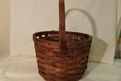 "#144 Antique Handmade Nantucket Basket - 14"" round x 10 1/2"" h, plus 8"" swing handle  - $75 firm (MLTH)"