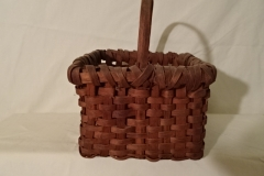 "#145 Antique Handmade Basket - 8"" square x 6"" h plus 3 1/2"" handle"
