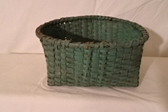 "#149 Green Handmade Basket - Oval 8"" x 6"" x 4"""