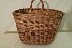 "#156 One handle Antique Handmade Basket - decorator stripe - 9 1/2"" x 6"" x 7""h plus 2 21/2"" single handle"