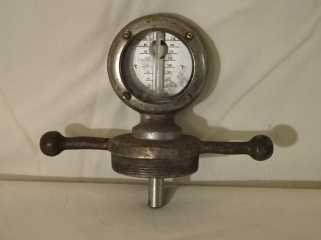 Antique Model A Ford Radiator Cap / Thermometer 2 of 2