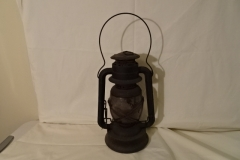 "Heitz lantern - ""D-Loc No6 New York USA"" on lens  - 14"" h"