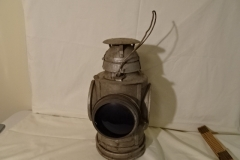 "Signal Lamp - 1 of 4 Lens Purple - ""Handlan St Louis USA"" ""C & O Ry"" - 15"" h"
